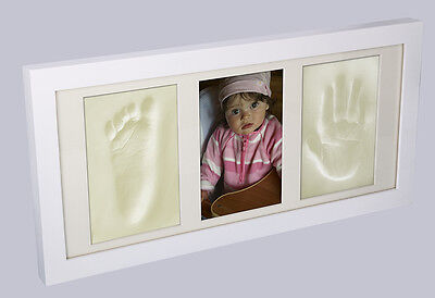 Baby Glass Photo Frame With Memory Prints - Baby Foot (Feet) & Hand Casting Kit