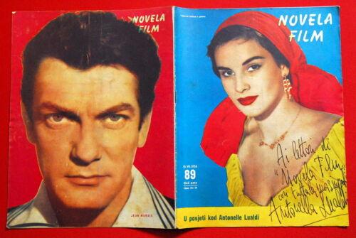 ANTONALLA LUALDI  SIGNED MAG COVER JEAN MARAIS 1956