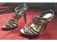 Tan leather strapped sandals - Ravel