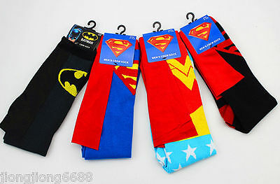 Batman Socks (DC Batman Wonder Woman Creativei Cartoon Cotton Socks Football Socks)