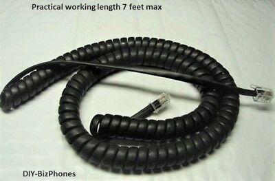 Packlot Of 25 Black 12ft Handset Cord Cisco Ip Phone 6900 Series Coil 6945 6921