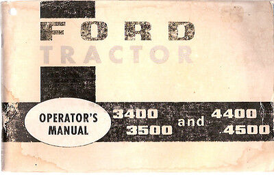 Ford 3400 3500 4400 And 4500 Tractor Operators Manual