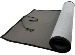 Easy to Clean Wide Single-side PVC Yoga Mat with Tie, Grey