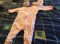 NEW girls sleeper set with cap and toy