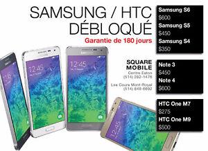 **Samsung S6/S5/S4--HTC One M7/M9** DÉBLOQUÉ GARANTIE 180 JOURS