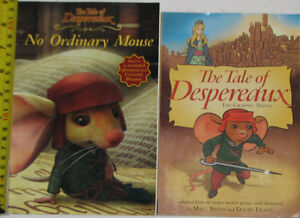 2 Tale of Despereaux Books & 1 Toy Figure London Ontario image 1