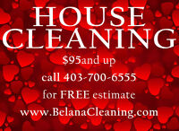 HOUSE CLEANING in CALGARY CALL/EMAIL/TEXT 403-700-6555