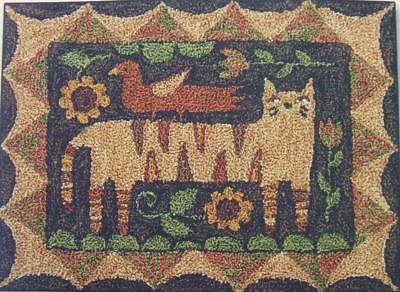 Tiger Cat PN157 Punchneedle Punch Needle Embroidery Teresa Kogut Pattern