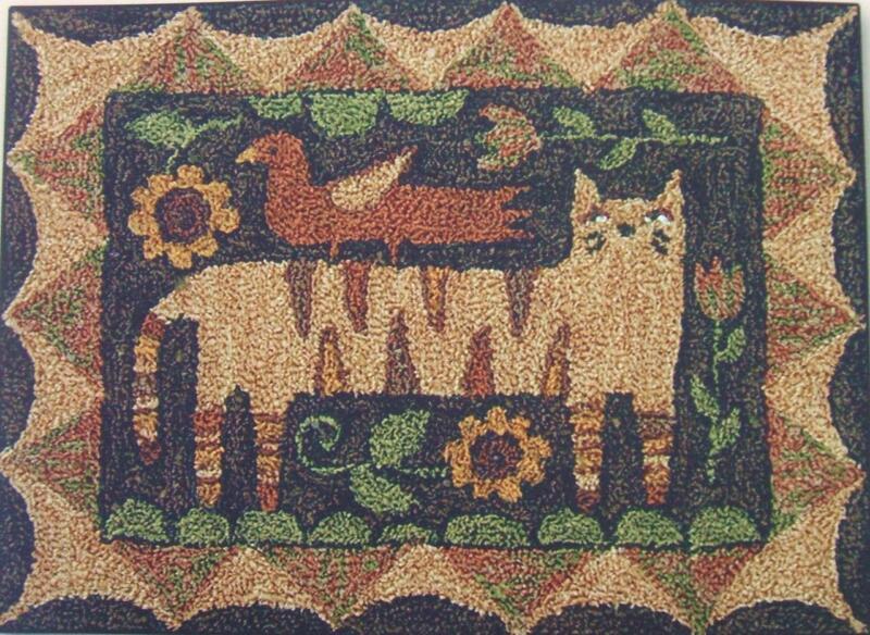Tiger Cat PN157 Punch Needle Punchneedle Embroidery Teresa Kogut Pattern