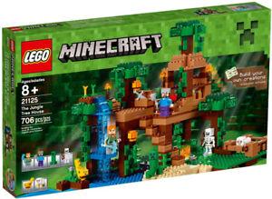 Lego Minecraft 21125 The Jungle Tree House Neuf