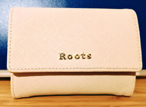 Roots soft pink/beige wallet (womens), mint condition $40