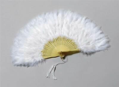 Pluma Abanico.blanco, Español, Accesorio de Disfraz