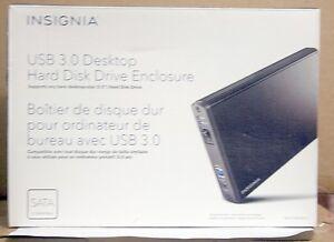 "INSIGNIA™ 3.5"" SATA DESKTOP HARD DRIVE HDD ENCLOSURE (BLACK)"