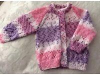 Handknitted baby jersey 0-6months