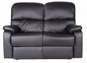Contemporary Style Recliner Bonded Leather Couch , Love Seat