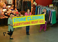 WANDERLUST IS CLOSING ITS DOWNTOWN STORES!!