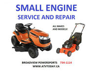 Spring Tune Up Time! Small Engine Service! Great Hourly Rates!