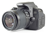 Canon 650D + 3 lenses, extra batteries and camera bag and more
