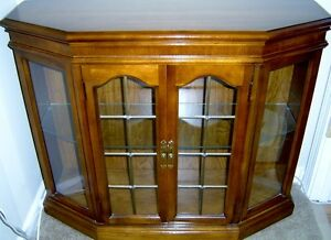 ANTIQUE CABINET AND MATCHIING MIRROR
