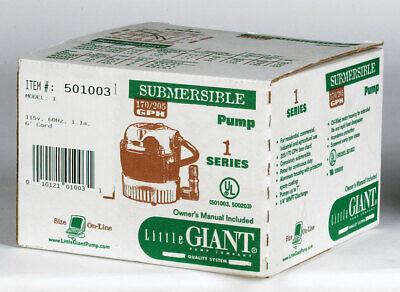 Little Giant Aluminum Submersible Utility Pump .006 Hp