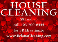 HOUSE CLEANING IN CALGARY CALL/TEXT NOW