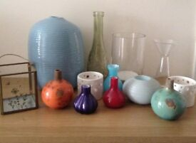 Various vases/ornaments