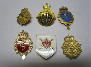 Canadian Military Cap / Command Badges - Lot of 6