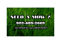 NEED A MOW?  We also do Oddjobs