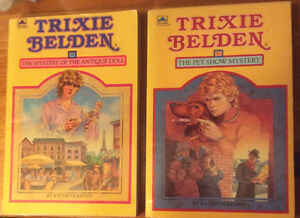Two Trixie Belden Soft Cover Books #36 and 37