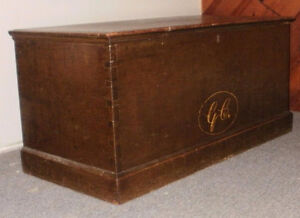 Early Canadian Pine Chest with historical links circa 1815