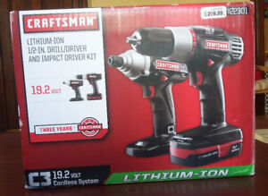 Craftsman Drill, Driver 19.2-Volt Lithium-Ion 1/2-in. (13mm) New