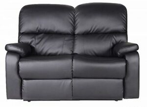 New Contemporary Style Recliner Bonded Leather Couch, Love Seat