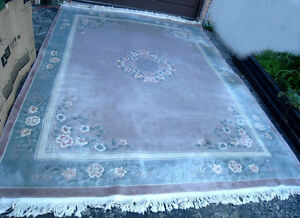 Extra Large 9' X 12' Area Rug, hand made,ASIS, FIRM Price