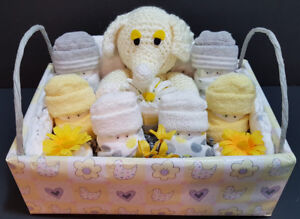 Box of Munchkins diaper cake