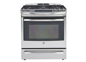 SELECTION OF GE GAS SLIDE IN STOVES! -- CAN'T BEAT THIS PRICE!