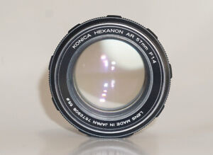 Konica 57mm f1.4 + adapter>>>>More 50mm manual lenses