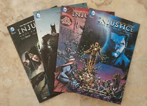 Injustice: Gods Among Us trades, first four volumes