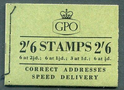 Great Britain - 1955 - 2/6 Wilding Booklet - Scott BK86 - SG# F34 - NH