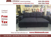 BRAND NEW 2pc Reversible Sectional Sofa Bed with Storage