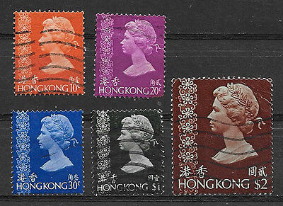 HONG KONG , GREAT BRITAIN , 1973 , SET OF 5 STAMPS , USED