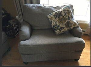 Ashley Furniture Couch And Oversized Chair Set