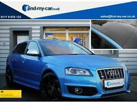 2009 09 Audi S3 2.0 TFSI Quattro 5dr in Kingfisher Blue Pan roof **WAS £14999**