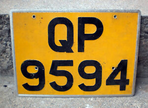 LICENSE PLATE LARGE COLLECTIBLE FROM THE UK OR FRANCE