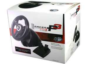Mad Catz PS3 Racing P3 Racer Game Steering Wheel & Pedals Wired
