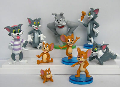 9pcs/Set Tom And Jerry Figure Cartoon Cat & Mouse Toy Anime Figuer Baby Kid Gift