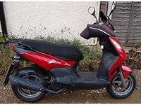 Sym Simply 2 Red 125cc Registered Feb 2015, Fully learner Legal scooter still 1 yr manufa warranty