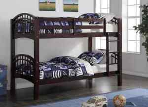 ★LORD SELKIRK FURNITURE★SHANGHAI BUNK BED FRAME-ESPRESSO $269.*★