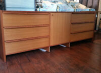 MCM Teak Sideboard/ Buffet/ TV Media Console- 7 ft Refinished