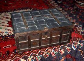 Antique Indian box (Rajasthani cash box)