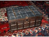 Antique Indian box (Rajasthani cash box)